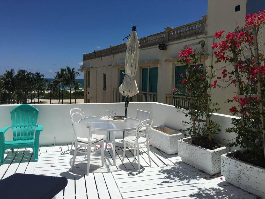 Penthouse s výhledem na oceán a terasou na Miami Beach