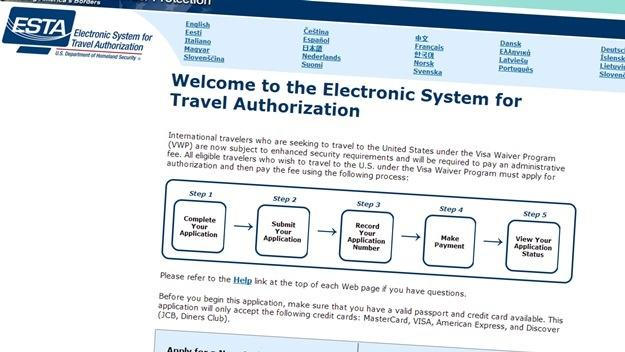 Žádost o vízum ESTA do Ameriky - USA